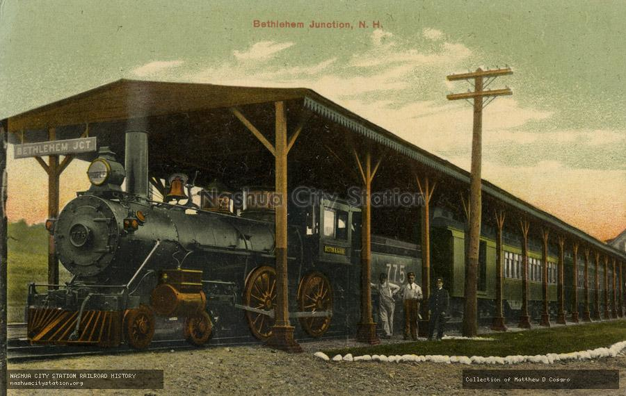 Postcard: Bethlehem Junction, New Hampshire