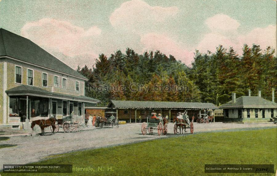 Postcard: Maine Central Railroad Station, Intervale, New Hampshire