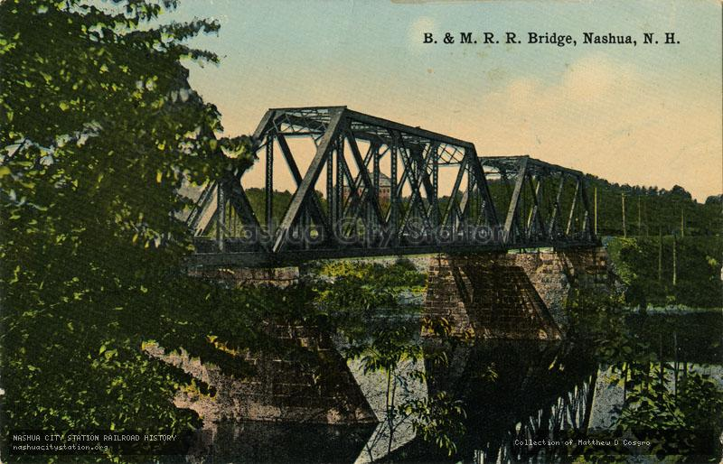 Postcard: Boston & Maine Railroad Bridge, Nashua, N.H.