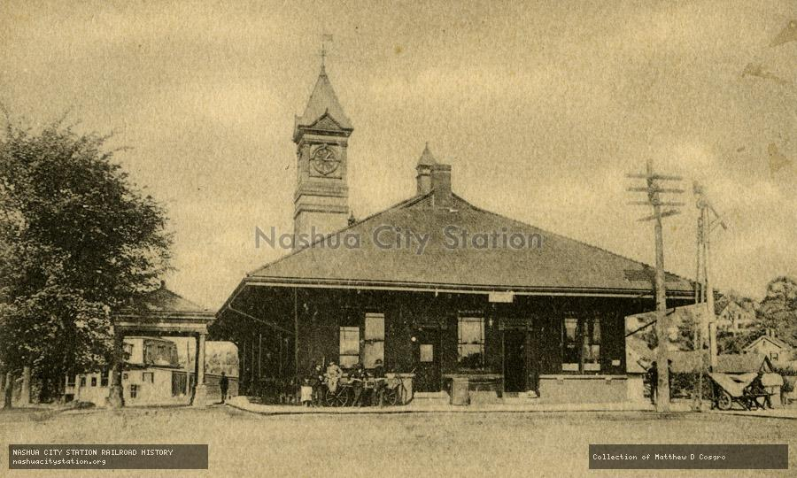 Postcard: Station, Athol, Massachusetts