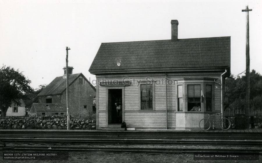 Postcard: Railroad Station, South Middleboro, Massachusetts