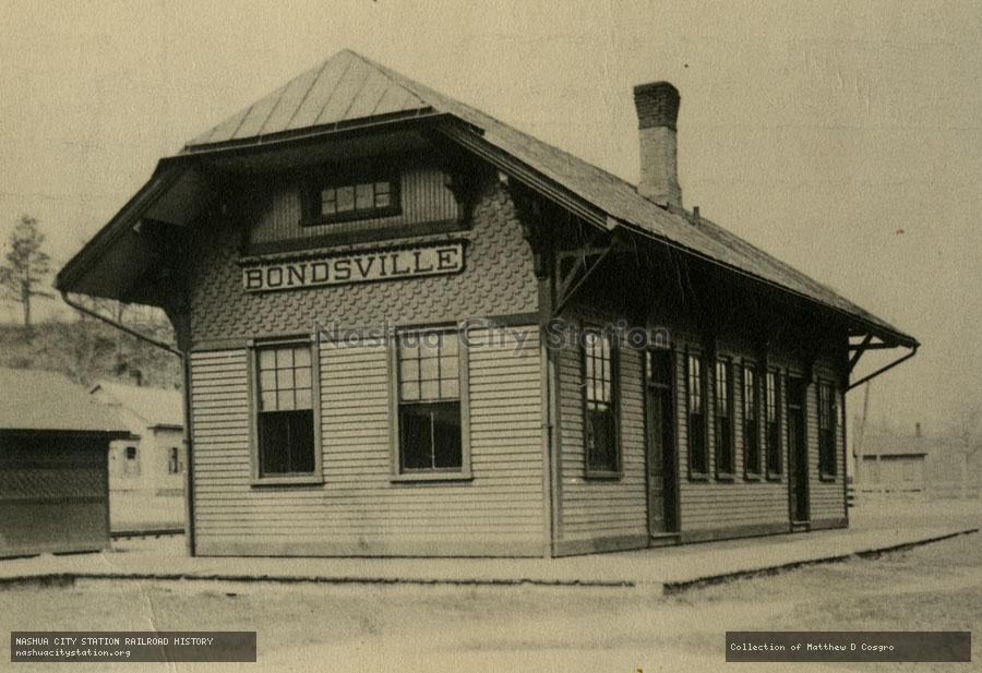 Postcard: Boston & Albany Railroad Station, Bondsville, Massachusetts